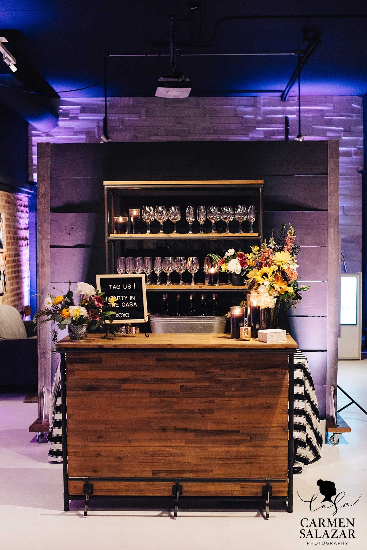 Party bar at photo studio grand opening - Carmen Salazar Photography