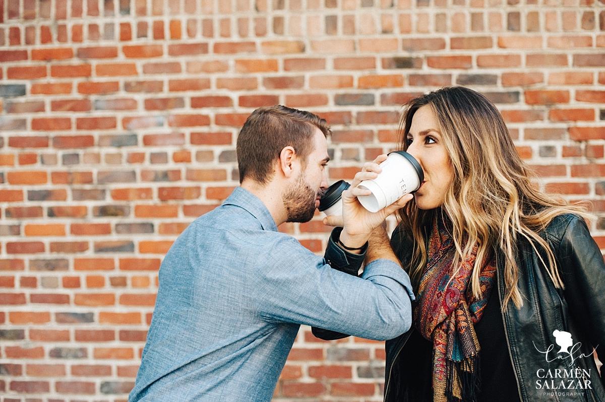 Temple Coffee engagement session - Carmen Salazar
