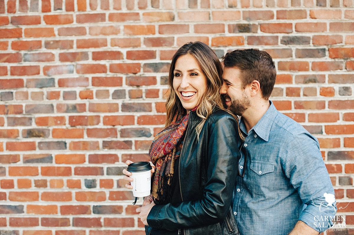 Coffee themed engagement session - Carmen Salazar