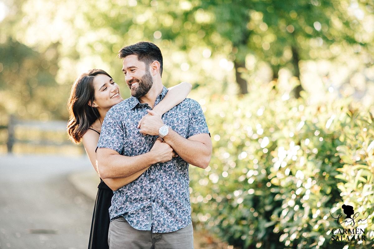 Romantic outdoor engagement portraits - Carmen Salazar