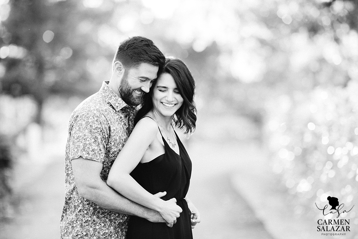 Heartfelt black and white engagement portraits - Carmen Salazar