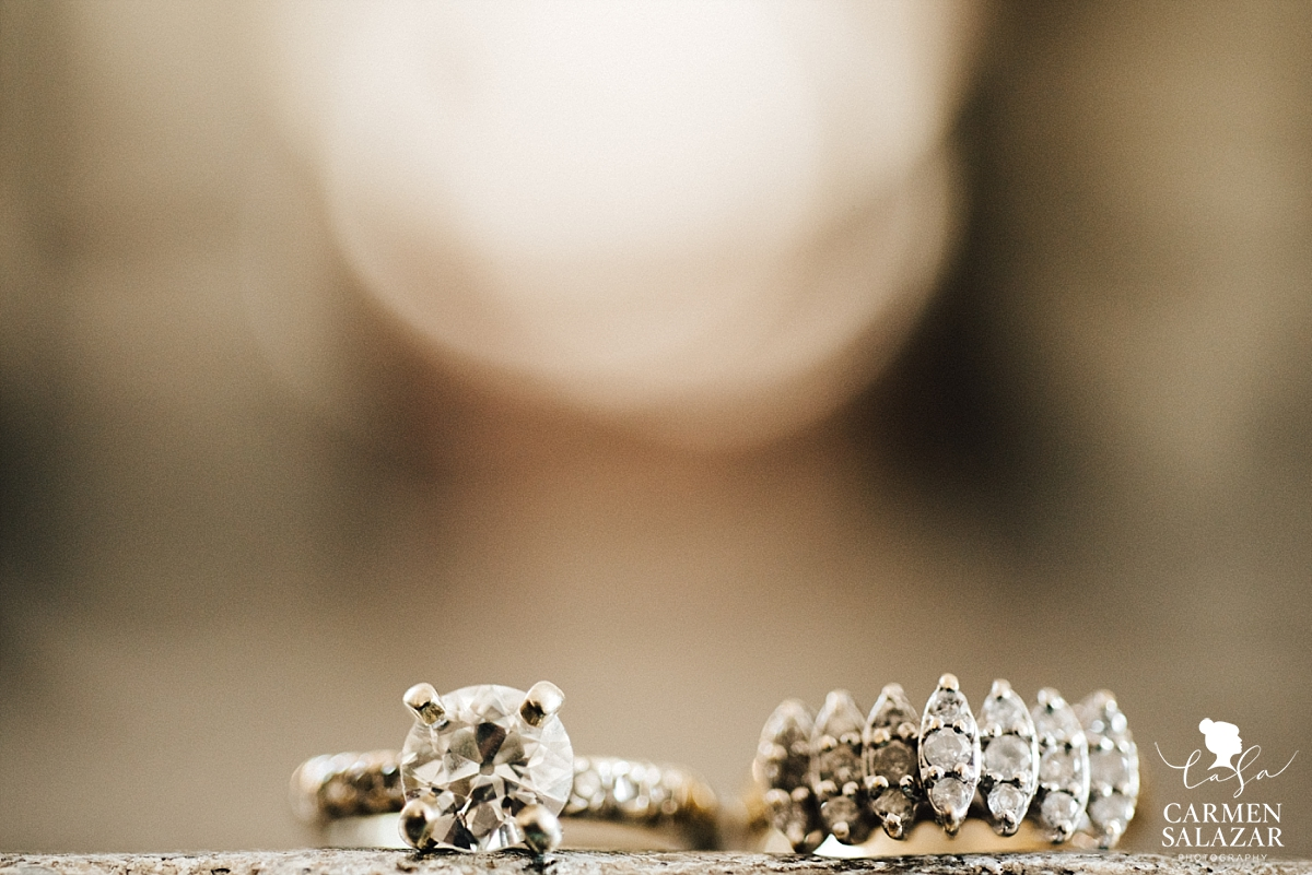 Vintage diamond wedding rings - Carmen Salazar