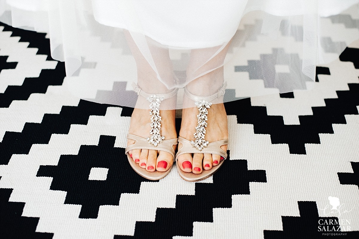 Fun and bold bridal footwear - Carmen Salazar