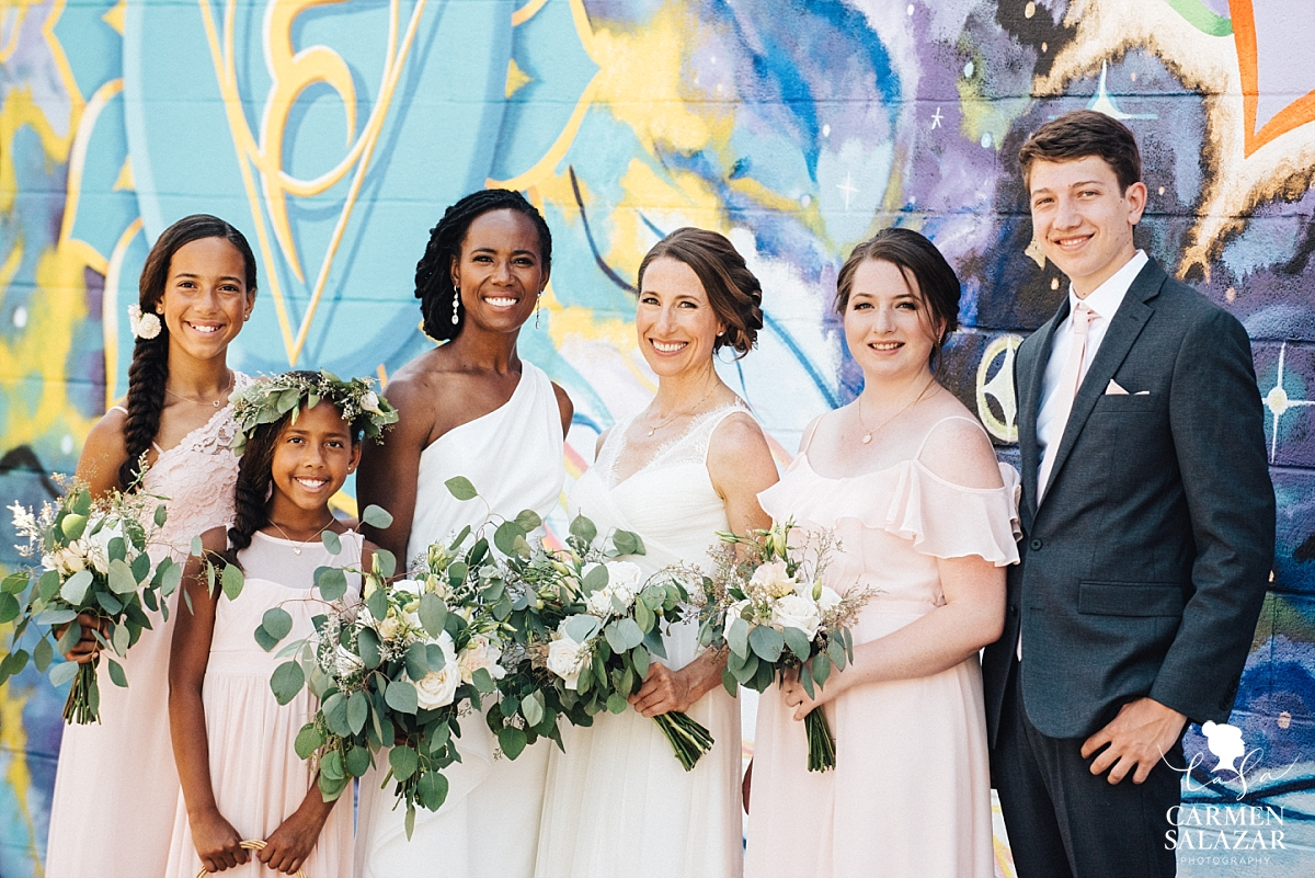 Wedding party portraits with brides' children - Carmen Salazar