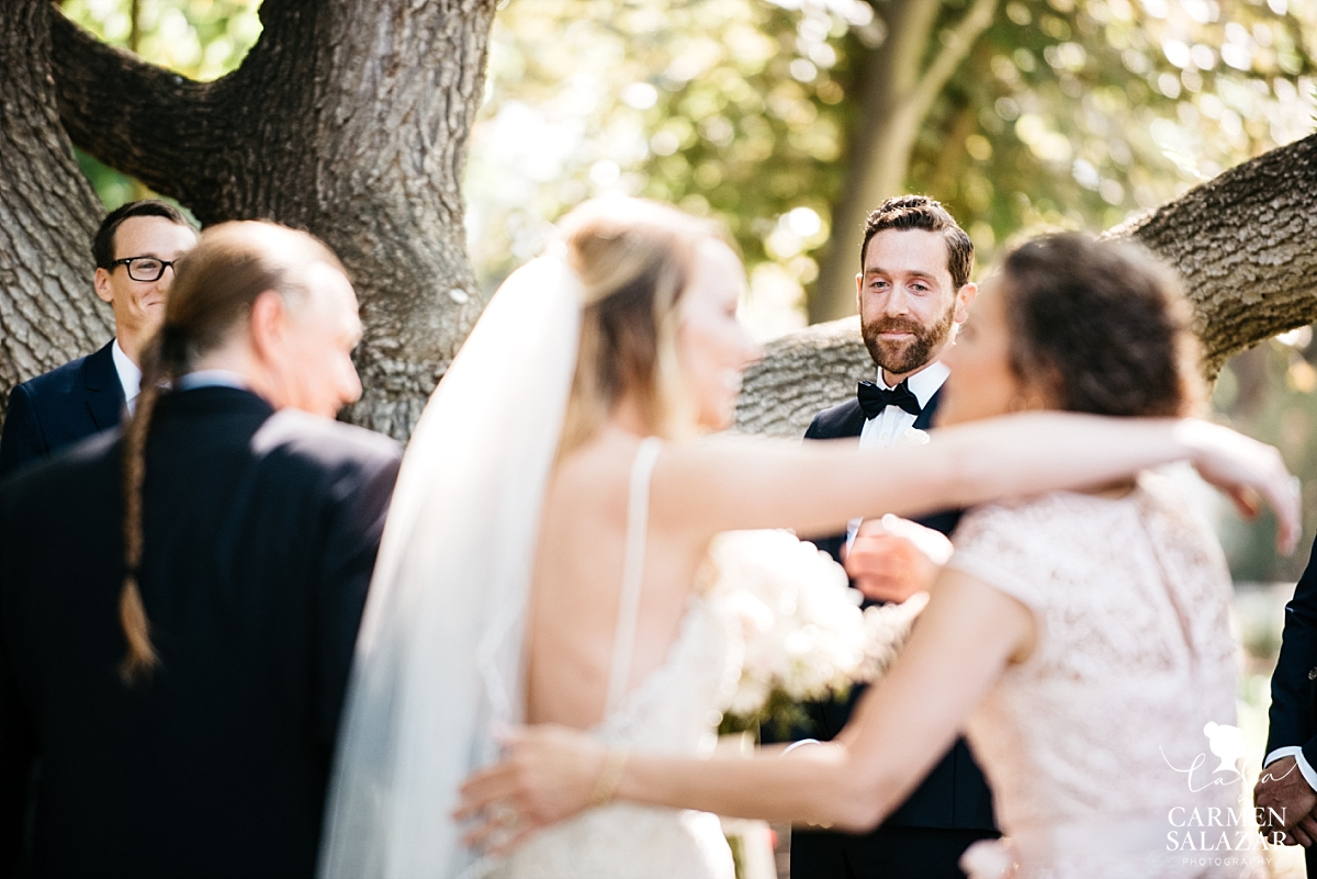 Groom seeing his bride for the first time - Carmen Salazar