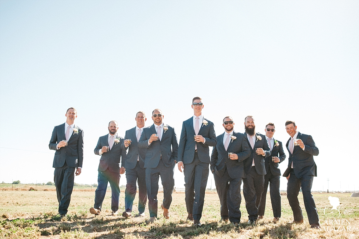 Entourage themed groomsmen portraits - Carmen Salazar