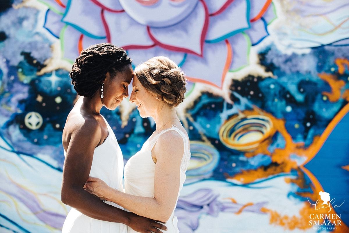 Artful lesbian wedding portrait photography - Carmen Salazar