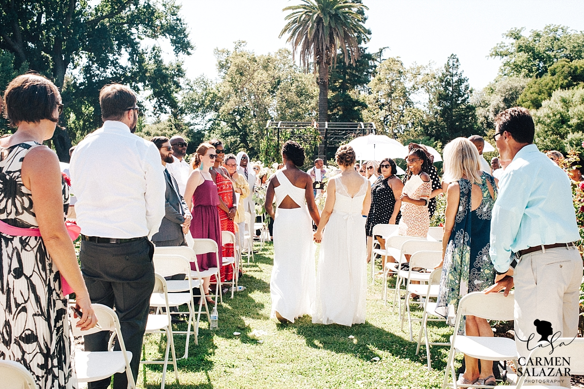 Same-sex McKinley Rose Garden wedding - Carmen Salazar