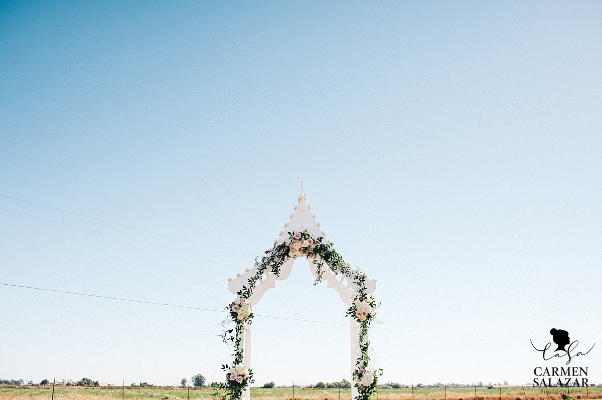 Vintage Asian wedding arch - Carmen Salazar