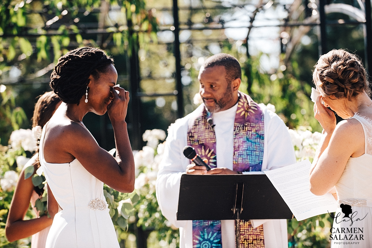 Tear-filled wedding ceremony at McKinley Rose Garden - Carmen Salazar