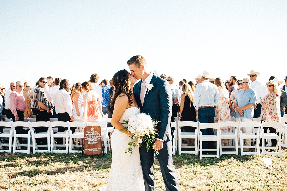 Romantic outdoor wedding newlyweds - Carmen Salazar