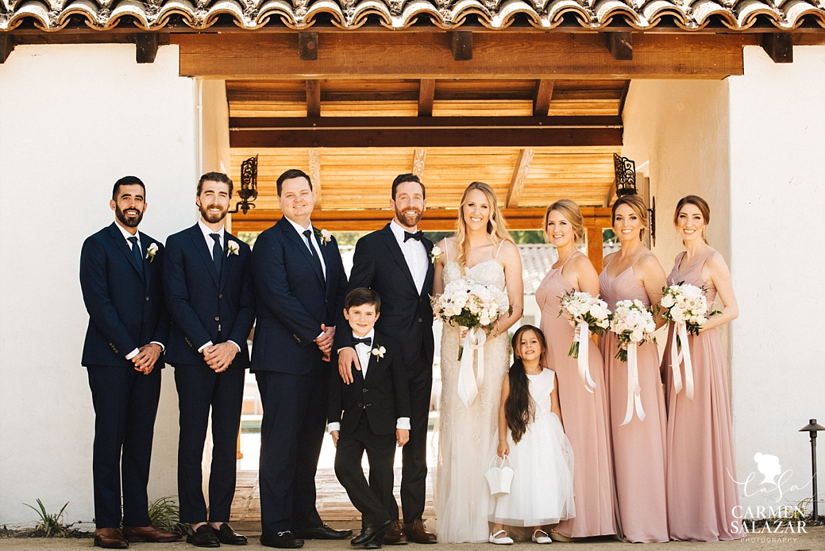 Bridal party at The Maples - Carmen Salazar