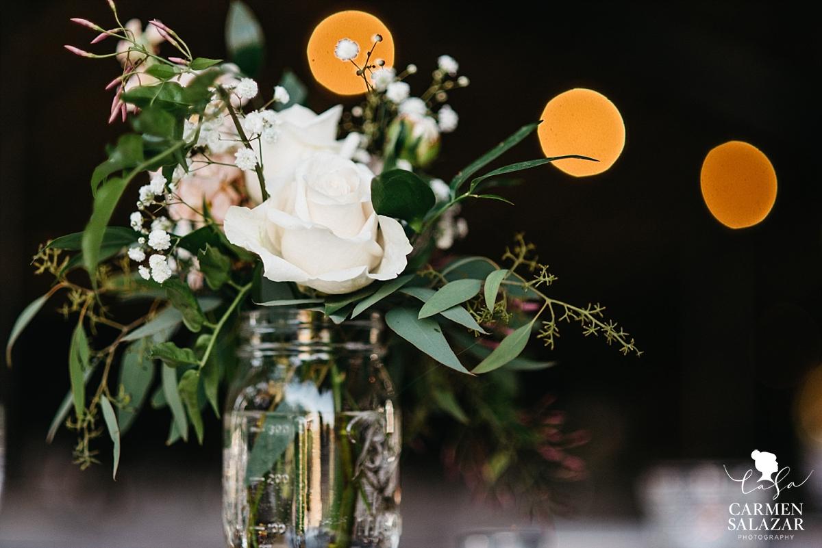 Mason jar wedding floral vases - Carmen Salazar