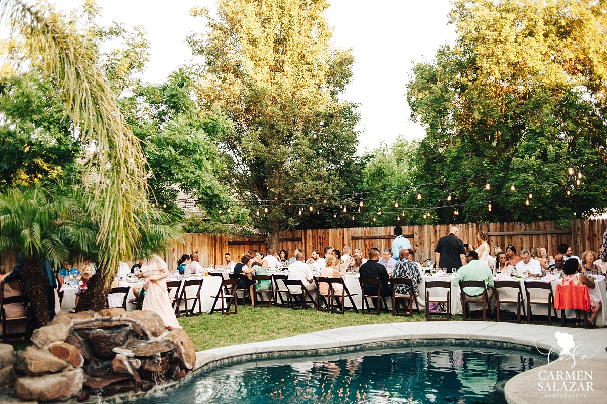 Private estate poolside wedding reception - Carmen Salazar