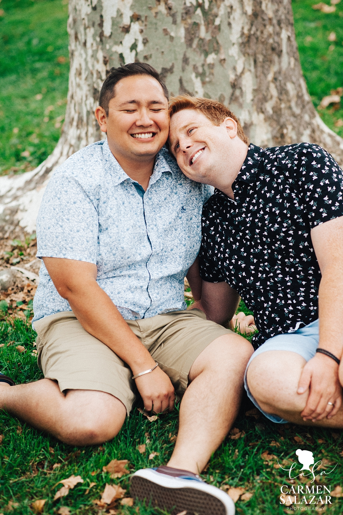 Outdoor gay Davis engagement session - Carmen Salazar