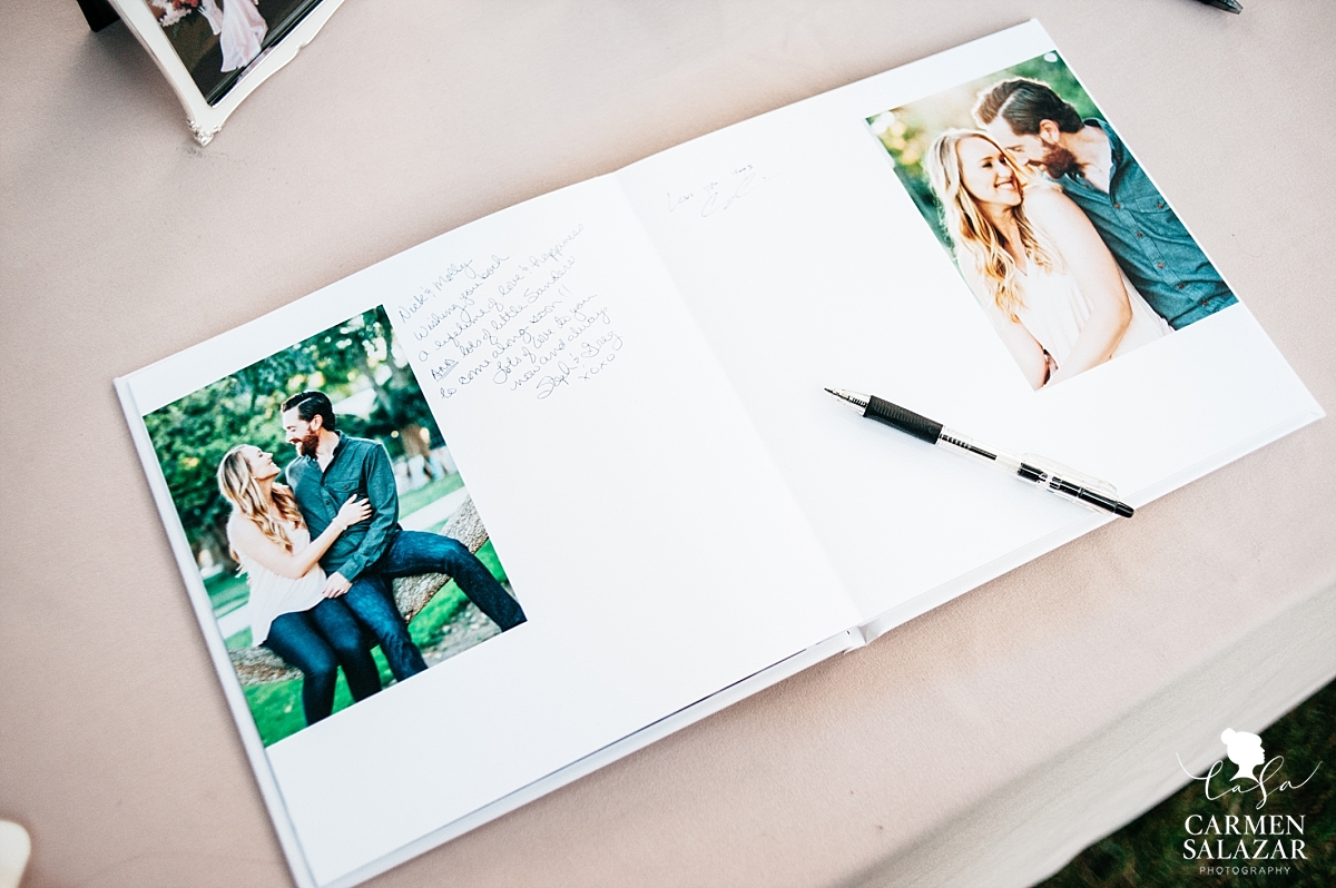 Engagement guest books by Carmen Salazar Photography