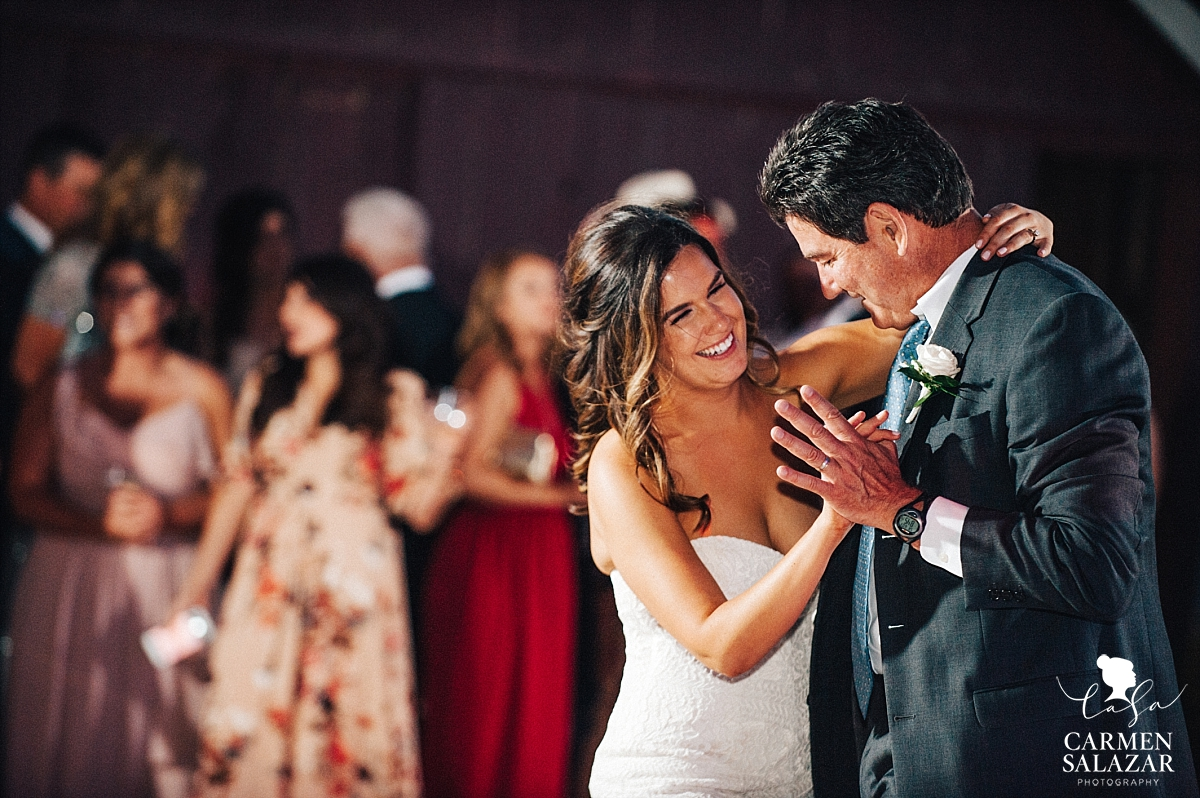 Bride's outdoor father daughter dance - Carmen Salazar