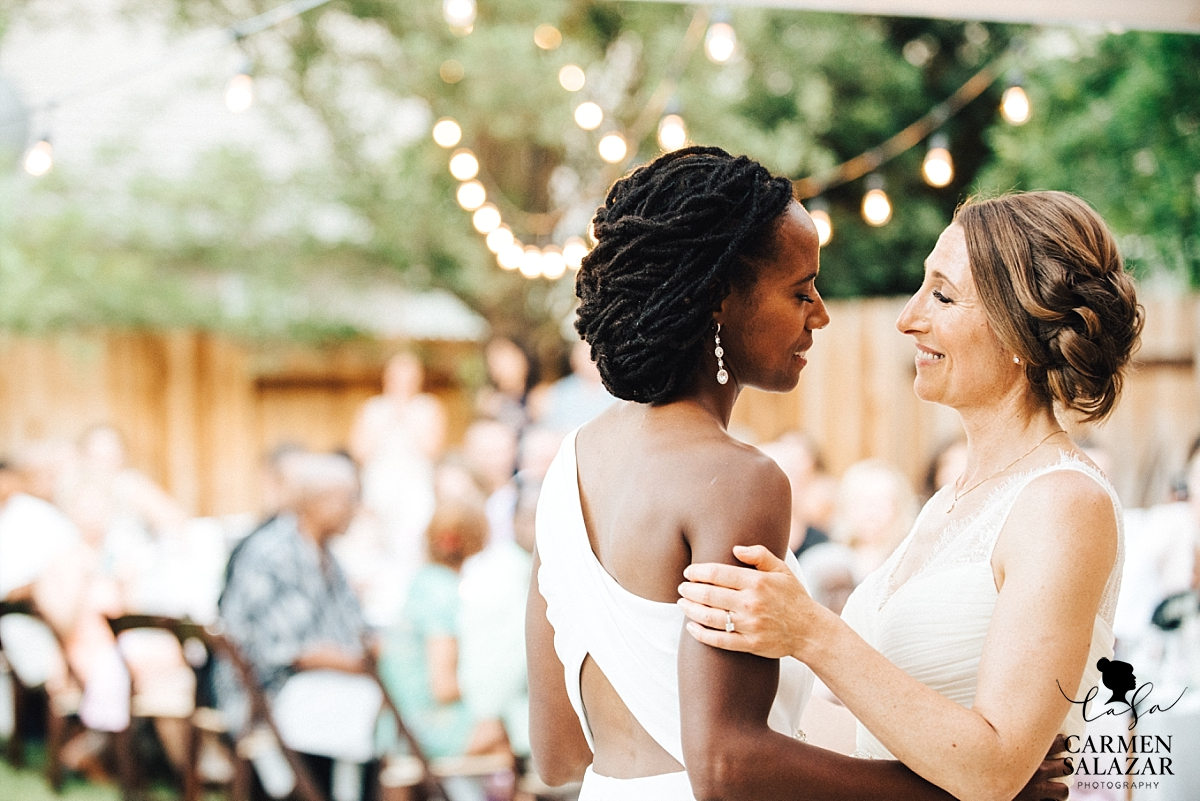 Intimate same-sex wedding first dance - Carmen Salazar