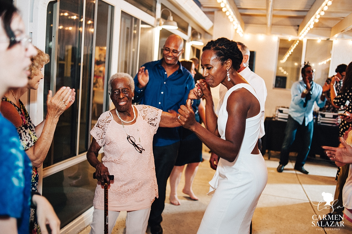 Grandmother joins the brides on the dance floor - Carmen Salazar