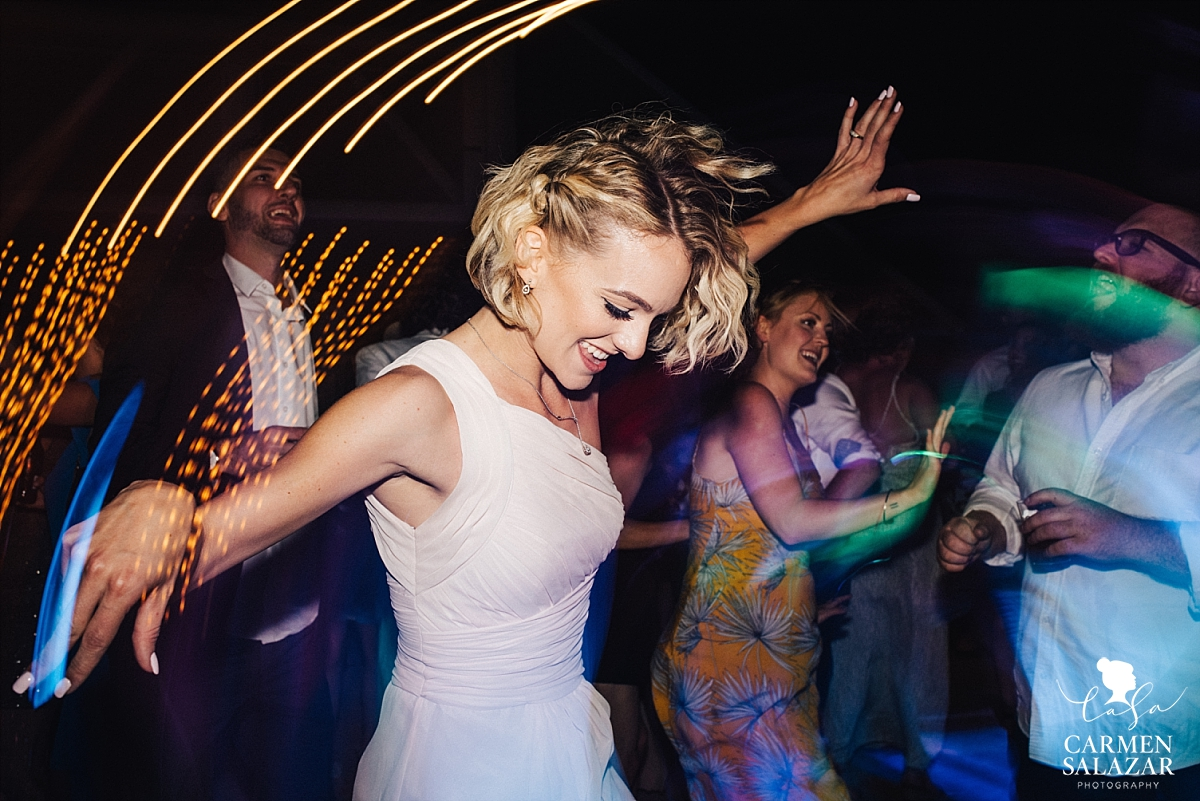 Bridesmaid having fun on the dance floor - Carmen Salazar