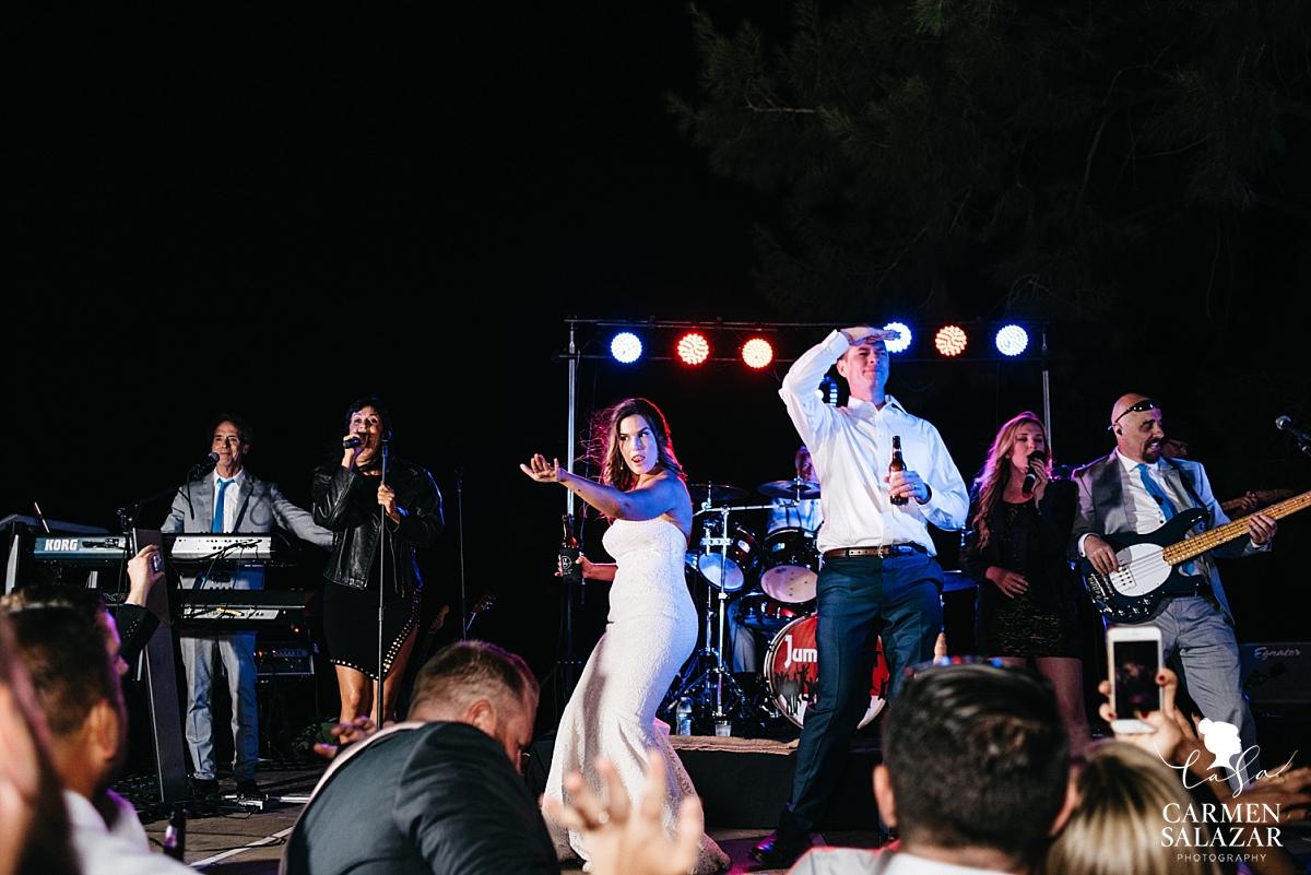 Bride and groom karaoke performance - Carmen Salazar