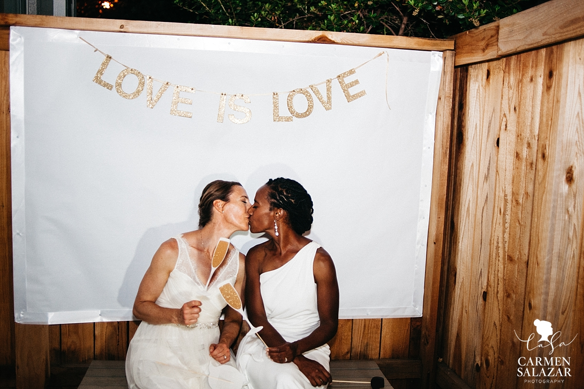 Same-sex wedding photo booth photos - Carmen Salazar