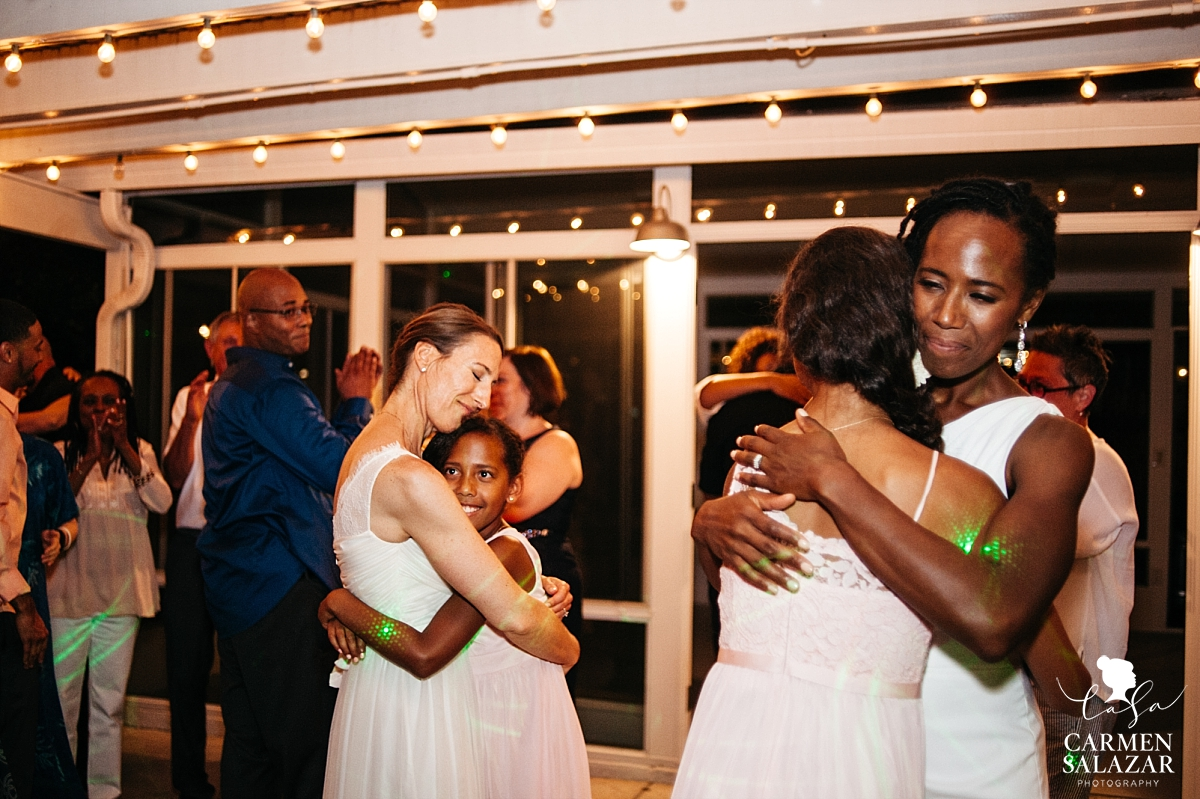 Emotional brides dance with their daughters at wedding - Carmen Salazar