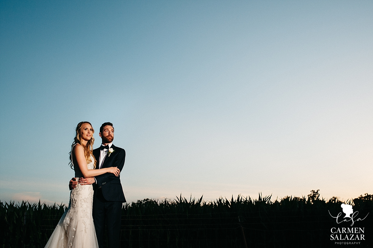 Epic sunset wedding portraits at The Maples - Carmen Salazar
