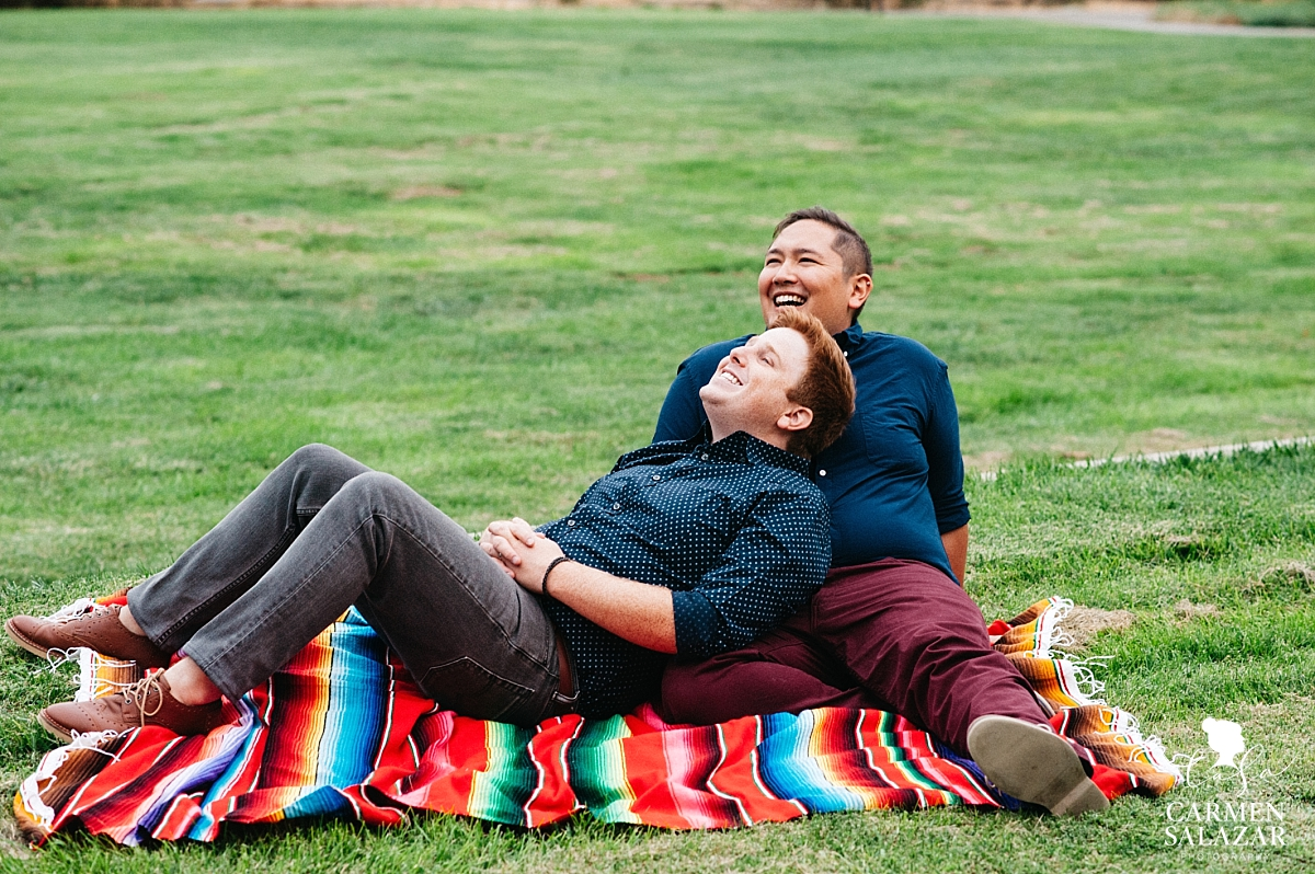 Same-sex outdoor engagement session - Carmen Salazar
