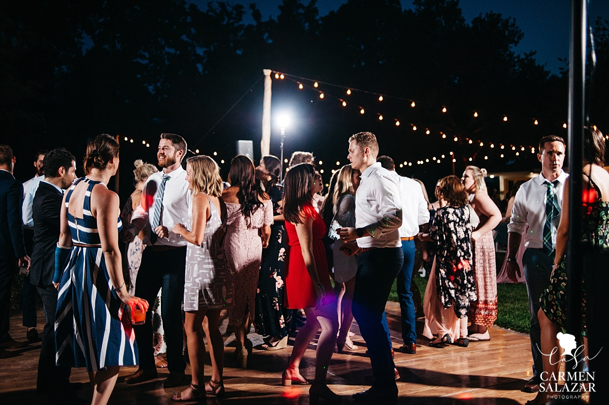 Dance floor at Maples wedding - Carmen Salazar