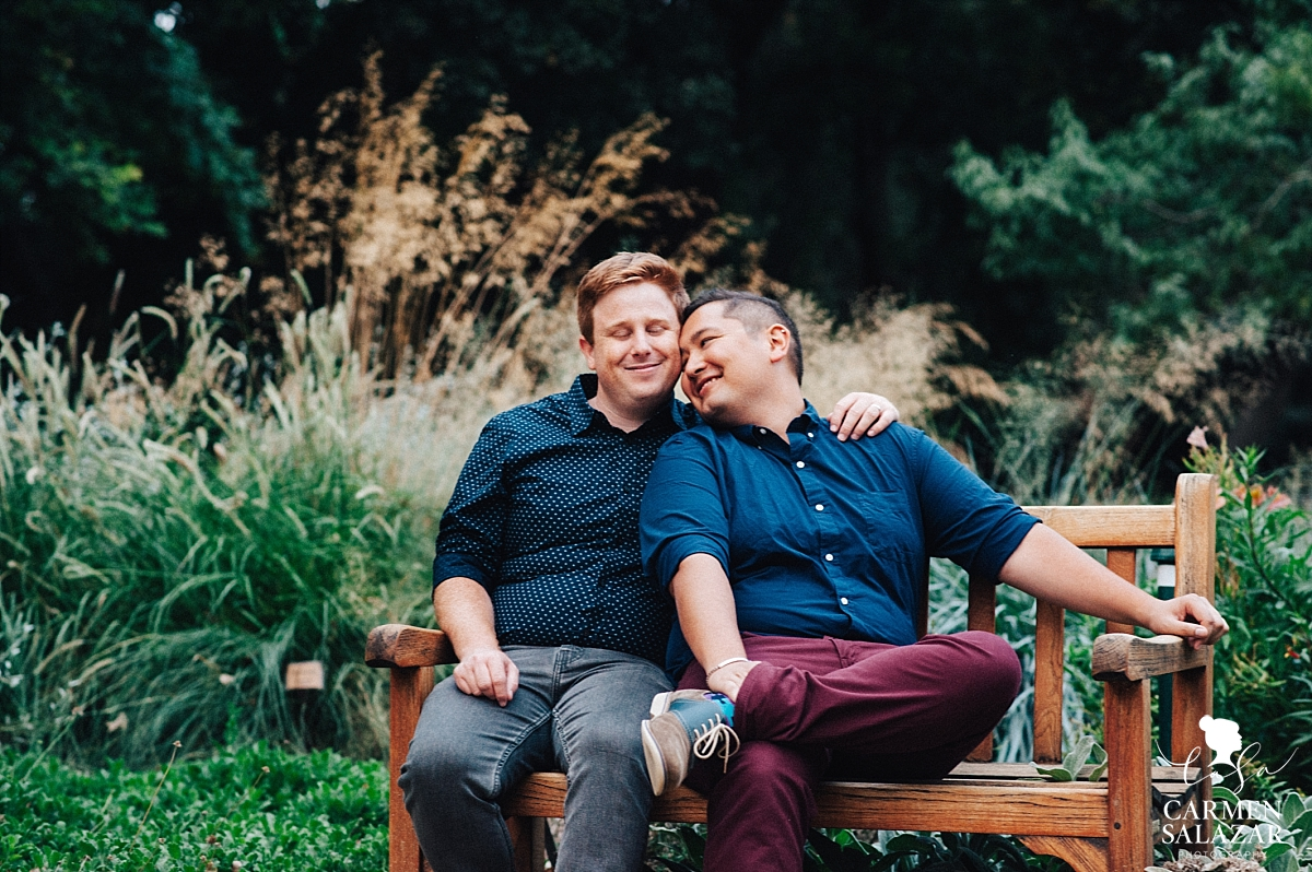 Same-sex sunset engagement session - Carmen Salazar