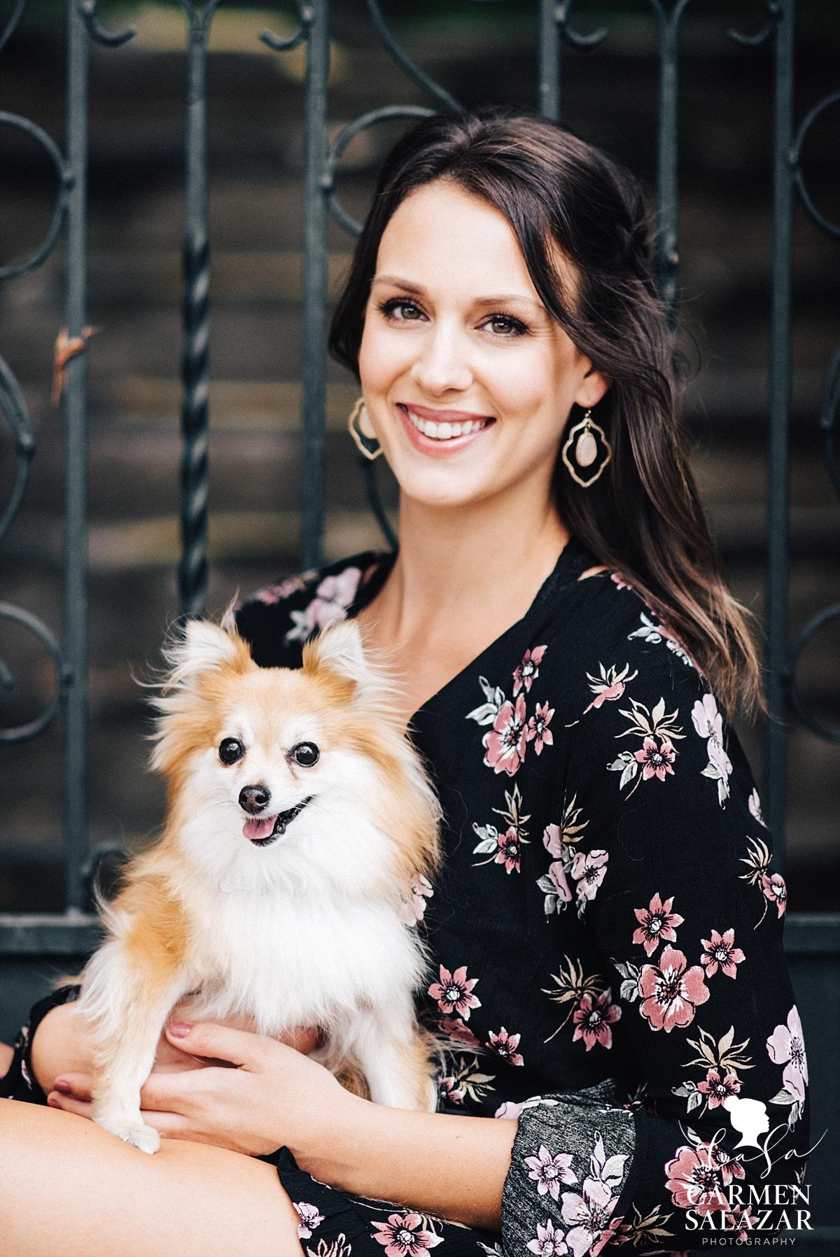 East Sacramento puppy portrait session - Carmen Salazar