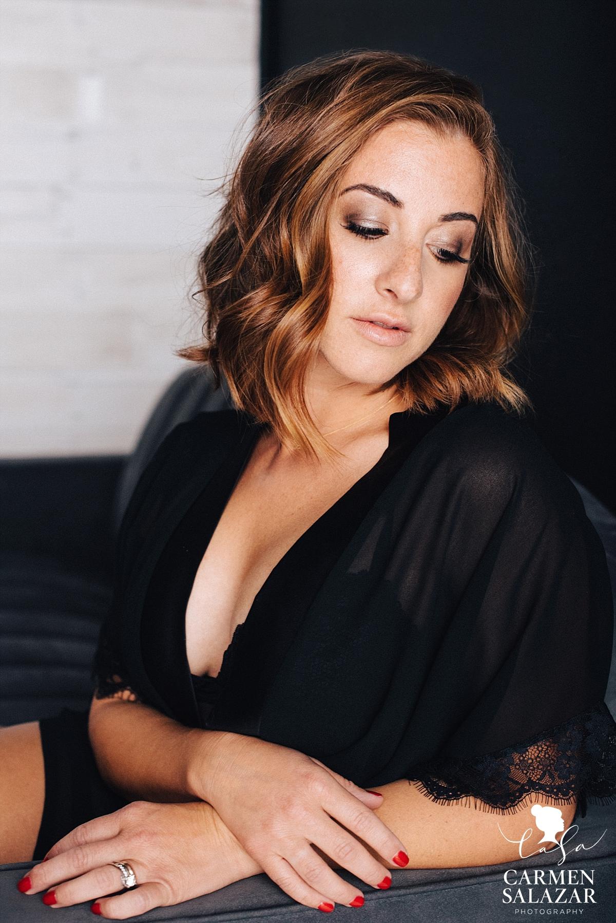 Sassy and sexy boudoir portraits - Carmen Salazar