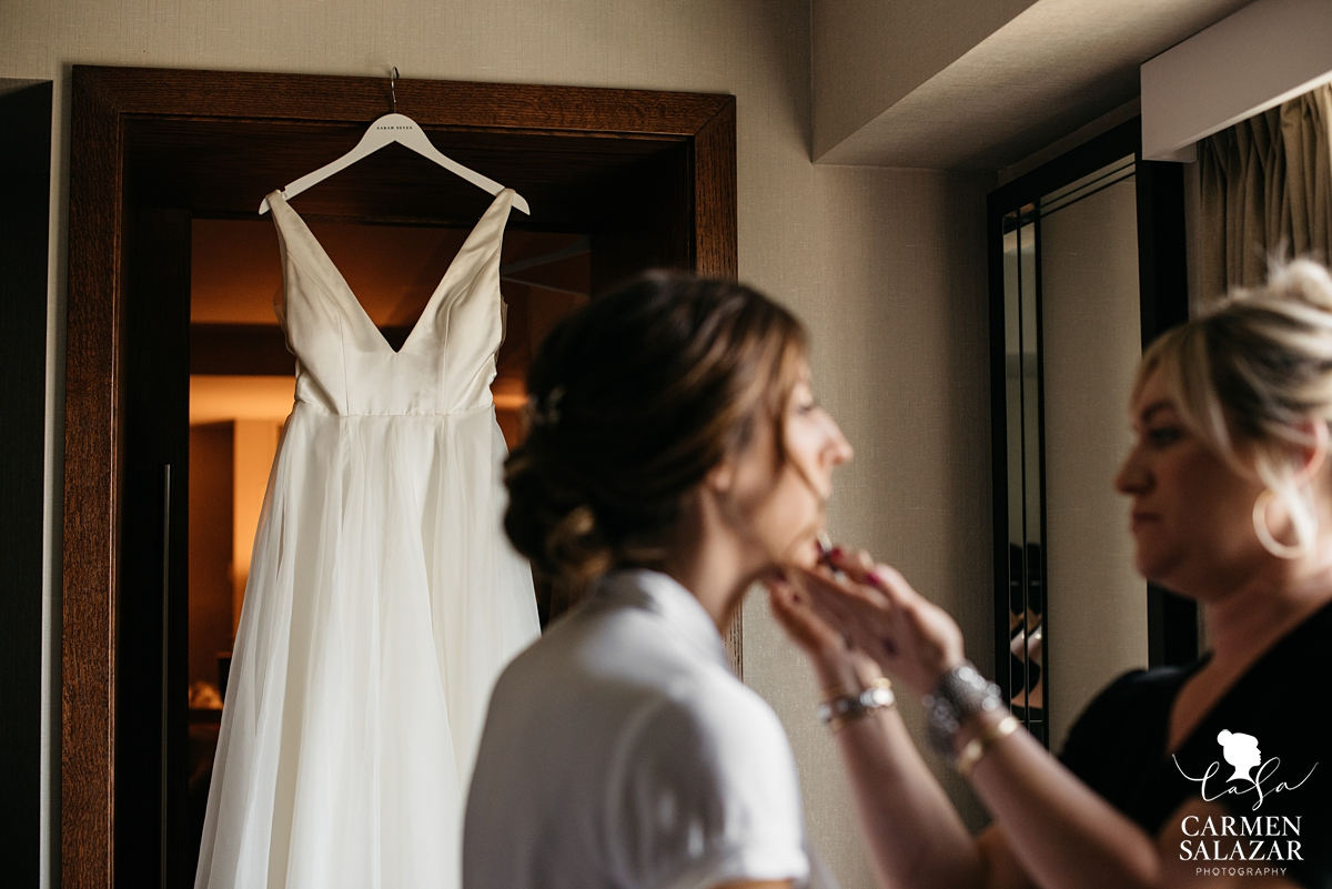 Briidal makeup with Christi Reynolds by Sacramento Wedding Photographer Carmen Salazar