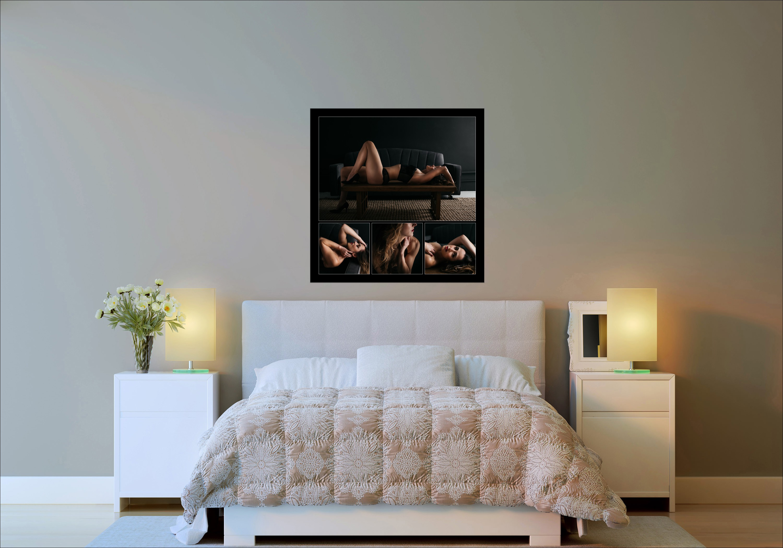 boudoir wall art inspiration in the bedroom by Carmen Salazar