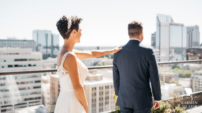 Roof top elopement - Carmen Salazar Photogrpahy